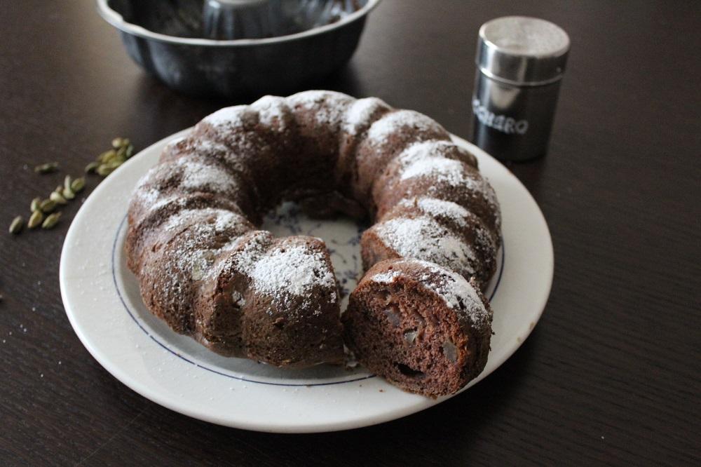 torta cioccolato e pere al profumo di cardamomo