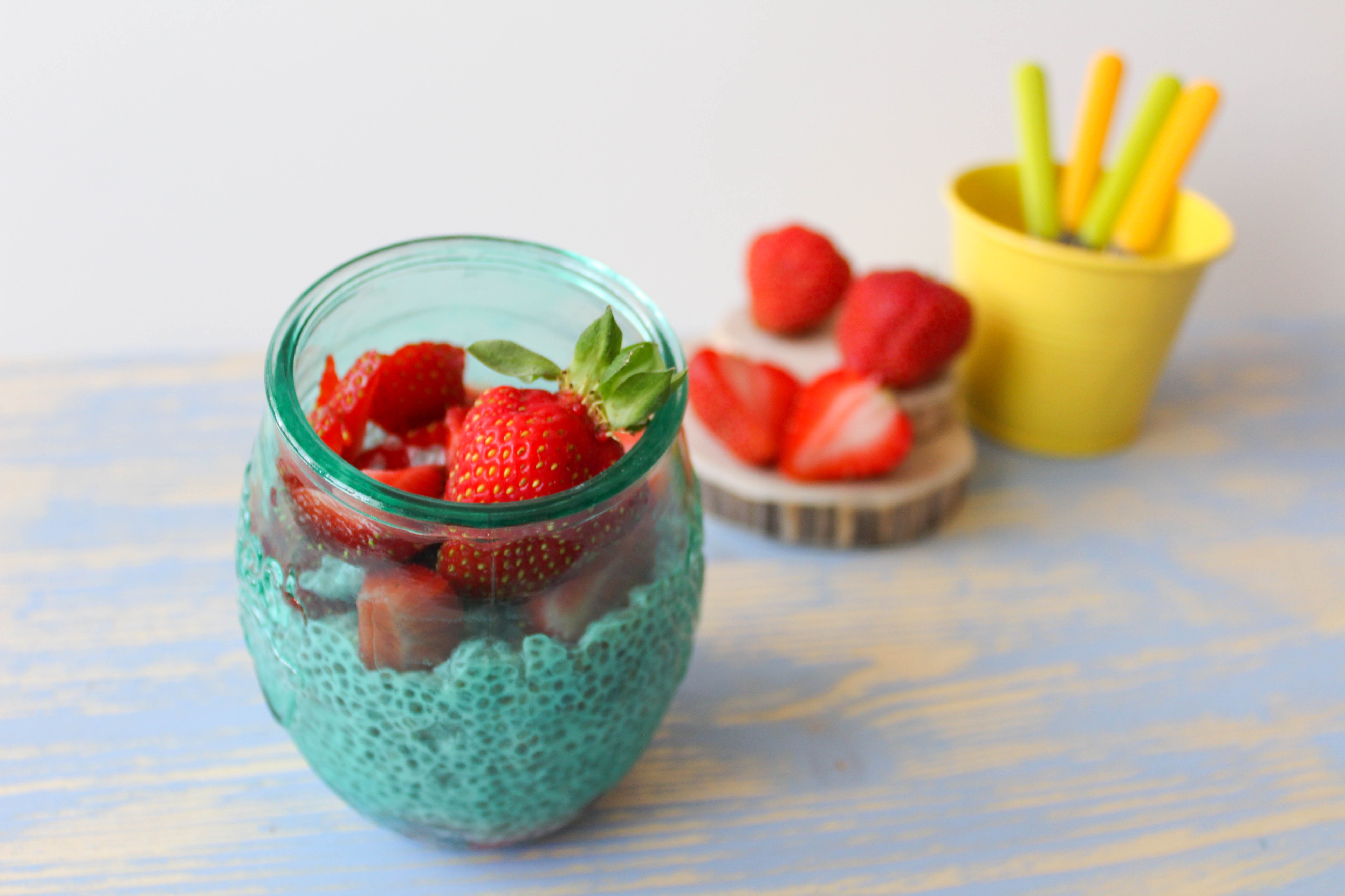 chia pudding con le fragole