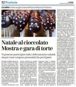Articolo L'Arena 14.12.18