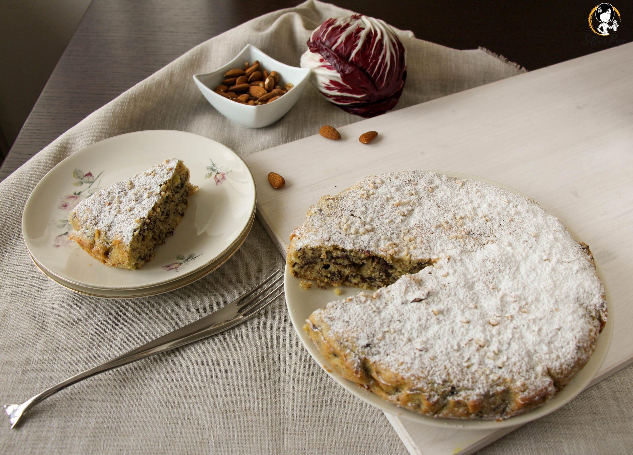 torta rustica mandorle e radicchio di Verona