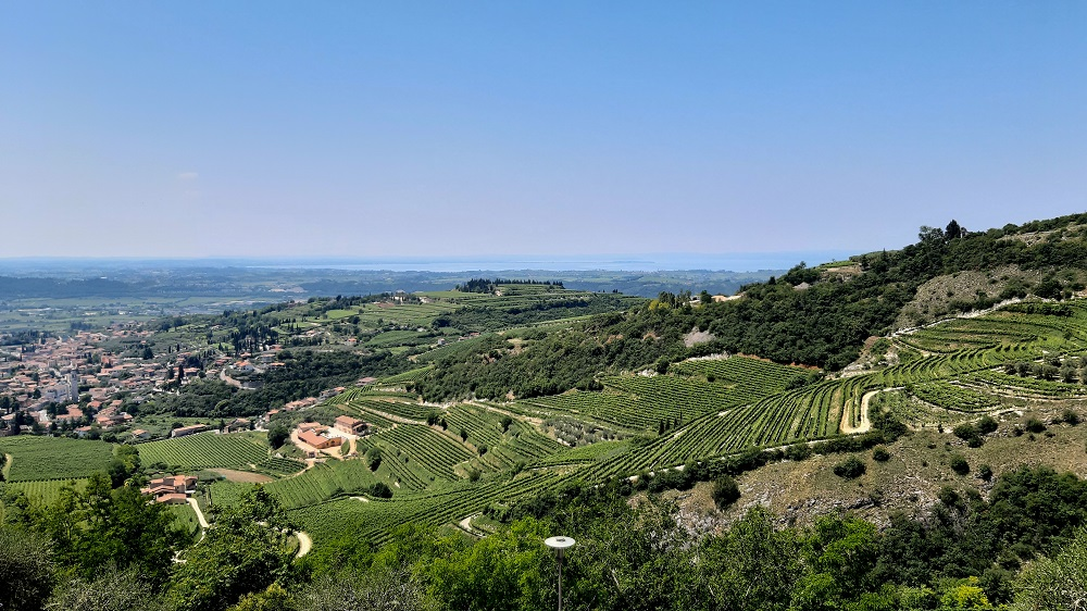 Valpolicella veduta dall'alto da Gargagnago